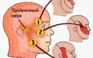 Где находится тройничный нерв на лице